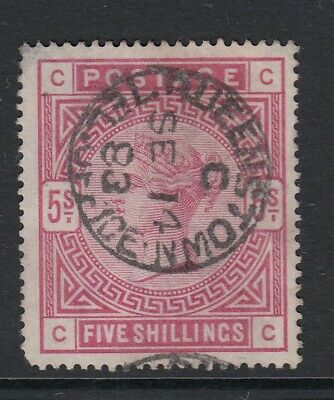 GB QV SG180 5/- Rose Used with Queenstown Cat £250