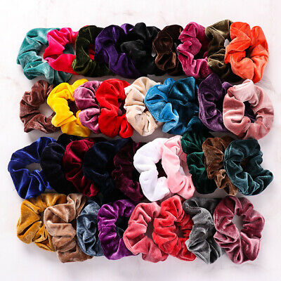 Colors Velvet Scrunchie  Elastic Hair Ties  Hair Scrunchie Hair Rubber Bands