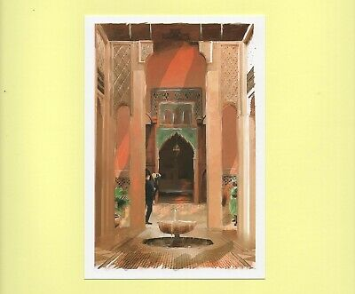 Carte postale cpm Maroc collection porte de riad p17