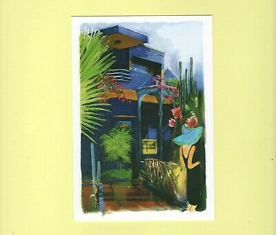 Carte postale cpm Maroc Jardin Majorelle Marrakech collection p21