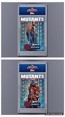 Topps Marvel Collect Card Trader Mutants Blue Complete Set of 9 w/ Both Awards