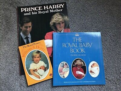 Prince William Harry Princess Diana Collectable Books Royal Family