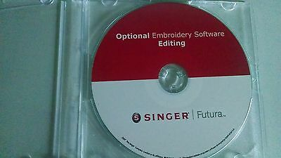 Singer Futura Editing Software for the CE150 or CE/250 , 350, SES 1000/2000