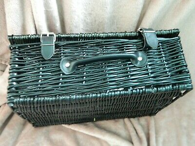 Black Wicker Picnic Basket