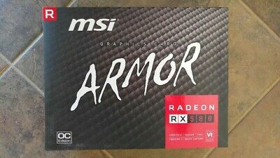 MSI Gaming Radeon RX 580 4GB GDRR5 Graphics Card - Excellent Condition