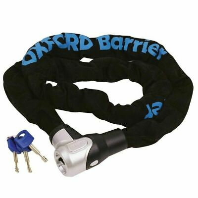 Oxford Barrier Chain & Lock Motorcycle Motorbike Scooter Security 10mm x 1.5m