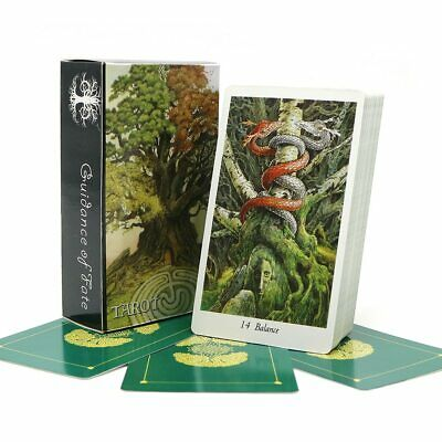Nature 78 Tarot Cards Deck 2018 Full English Animal HQ Green Playing Board Game