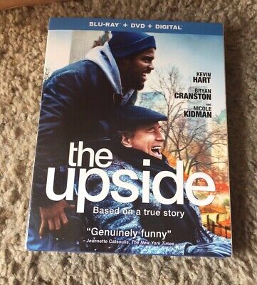 THE UPSIDE Blu-ray (DVD, Digital) Brand New w/slipcase Kevin Hart