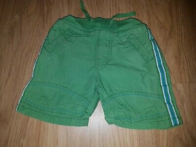 Baby boys Mothercare green shorts.....0-3 months