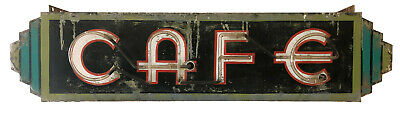RARE Vintage 1930s neon and metal art deco cafe sign - fully functioning antique