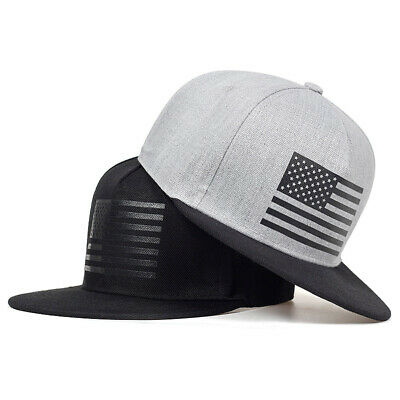 Black Gray Baseball Cap Hat Casquette American Flag Hip Hop Men Women Gorras