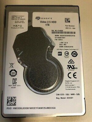 """1TB 2.5"""" 7mm Slim Seagate Hdd Compatible for Laptop PS3 Video Synology QNAP New"""