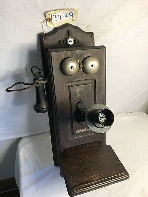 Antique Telephone Swedish American single box (3449)
