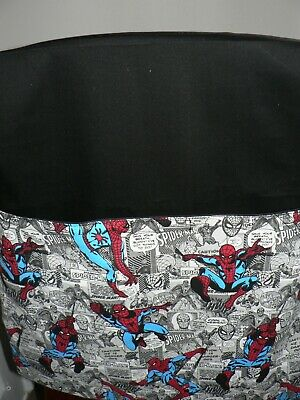 School Handmade Chair Bags First name Embroidered Free Spider-man Prints black