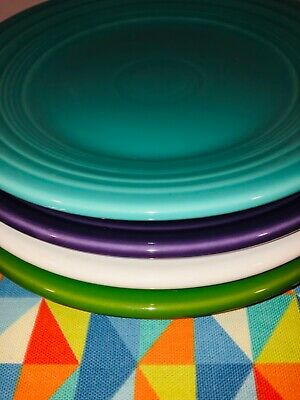 """Fiesta ~ Brand New Bright Mixed Set ~ 4 Fiestaware  9"""" Mixed Color Lunch Plates"""