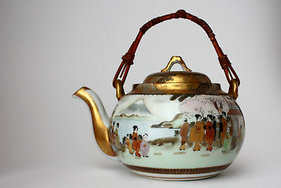Kutani Fine Hand-Painted Pot with Spring Scenery