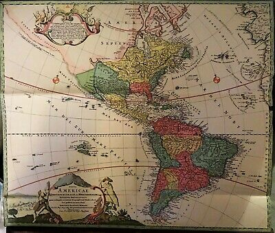 Antique Map-North America-South-Totius Americae -Iohannes Baptiste Homann c.1730