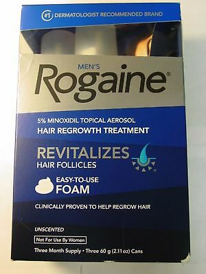 Rogaine Unscented Foam-3 month supply Exp 07 2019-10/2019