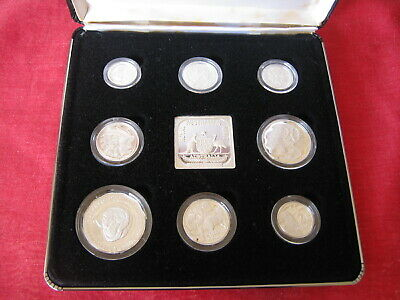 1991 Masterpieces In Silver Jubilee Set Ram Proof Coins