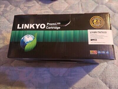 Linkyo Compatible Toner Cartridge Replacement for Brother TN-760 Black 2-Pack