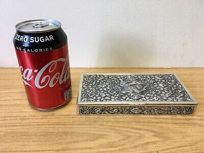 Antique Solid Silver Indonesian Box 305g DAC Early 20th Century