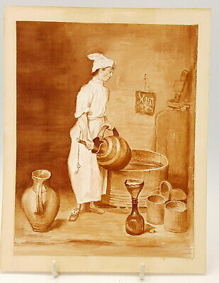 19th century Watercolour From the picture by Jean-Baptiste Simeon Chardin.