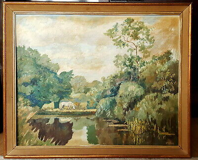 Vintage Impressionist Oil Painting mid 20th century Signed O'Neill.