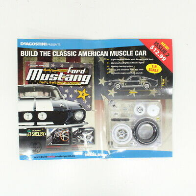 Build Your Own Ford Mustang 1967 Shelby GT-500 Magazine Issue 2 w/ Parts #710