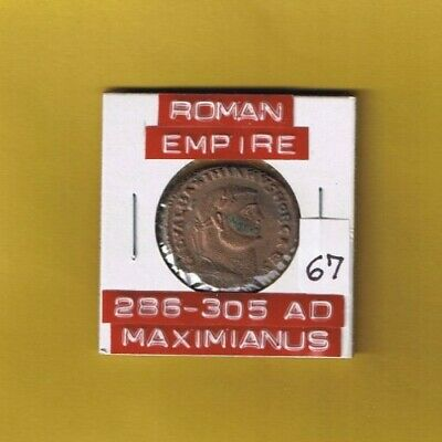 "Ancient Roman Empire coin of ""Maximianus"" 286-305 AD.. large 27mm AE follis"