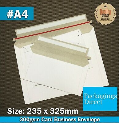 Card Mailer #A4 235x325mm Tough Business Envelope 300GSM  A4 Size White Plain