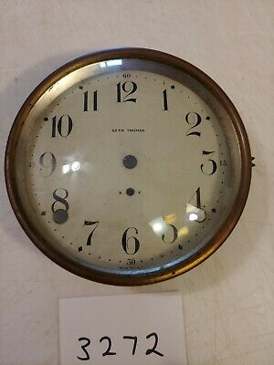 Antique Seth Thomas Cathedral Arch Mantle Clock Dial & Bezel & Glass