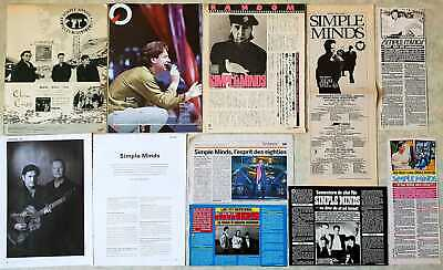 SIMPLE MINDS lot de presse clippings collection pack