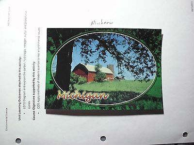 Michigan Farm Barn Red Horse Field Pinckney Country vintage old classic home a