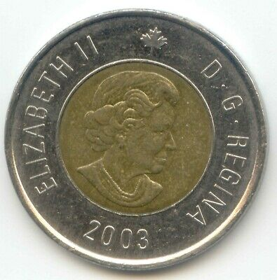 Canada 2003 Toonie NEW EFFIGY Canadian 2 Dollar $2 Two Dollar EXACT COIN
