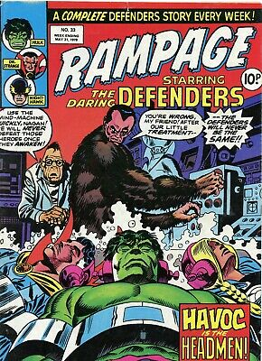 Marvel comic, Rampage No 33 week ending may 31 1978