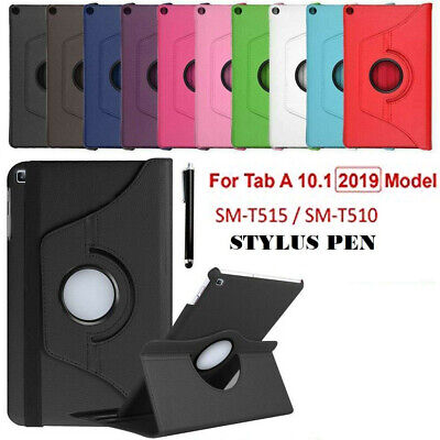 """Rotation Leather Stand Case Cover For Samsung Galaxy Tab A 10.1"""" T510-T515 2019"""