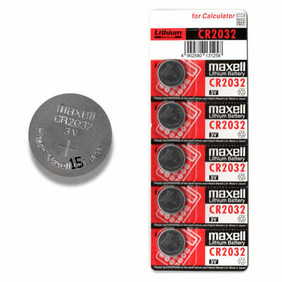 Maxell CR2032 5 pack 3V 220mAh Lithium Coin Button Cell Micro Battery Melbourne