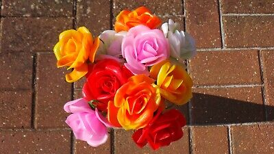 Pack of 100 Plastic Rose Pick For a Longer Lasting Tribute Mixed Colour Flowers