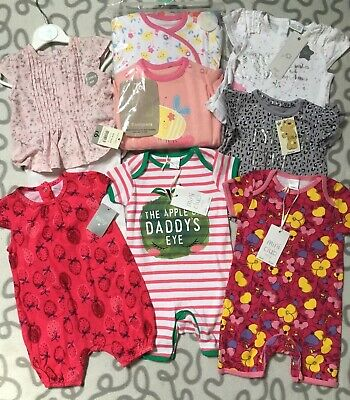 Baby Girls Clothes Bundle Newborn 0-3 3-6 Months Rompers