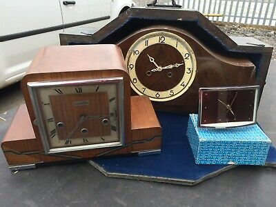 5 Vintage Clocks for spares & repair