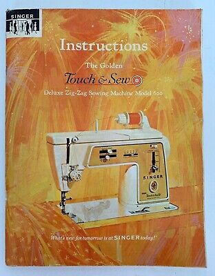Vintage Singer Golden Touch & Sew Model 620 Deluxe Zig-Zag Sewing Machine Manual