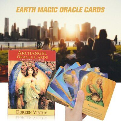 Magic Archangel Oracle Cards Earth Fate Tarot Card 45-Card Deck With Guidebook