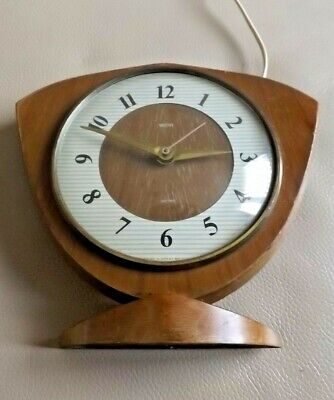 Vintage Smiths Wooden Electric Mantel Clock - 1950´s