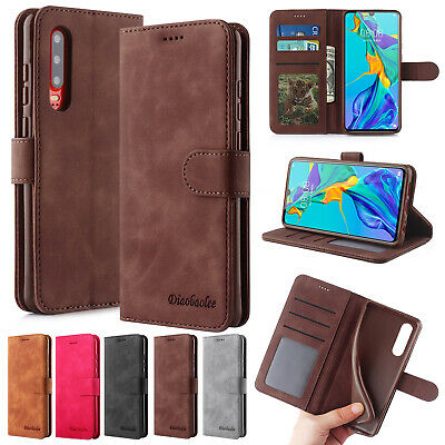 For Huawei P30 Pro Case Mate P20 Lite Luxury Leather Magnetic Flip Wallet Cover