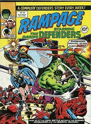 Marvel comics Rampage No 29 week ending may 3rd 1978