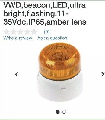 VWD BEACON ,LED,ULTRA BRIGHT, FLASHING .  11-35vdc. Amber Lens