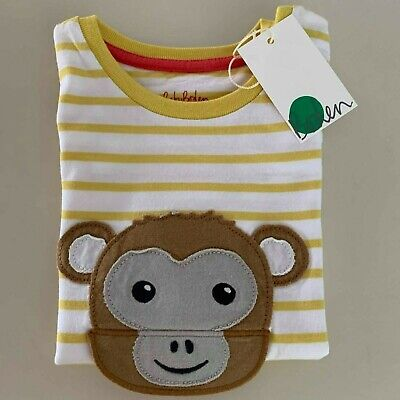 """Mini Boden Awesome Baby Boys """"MONKEY"""" Shirt 12-18 Months. So CUTE and COMFY!"""