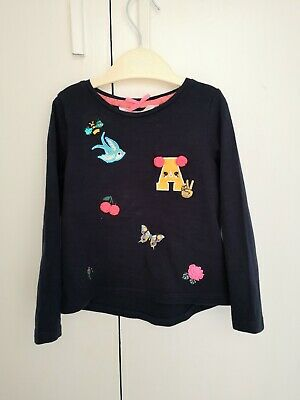 Girls H&M Navy Blue Top (age 2-4yrs)