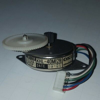 Oki Electric 8.2VDC 0.24A 7.5 Deg./Step Pulse Motor (Stepper) KHL-40M12B