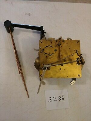 Antique English Westminster Chimes Mantle Clock Movement & Bar